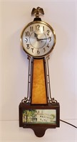 1940s Sessions Electric Banjo Clock & Thermometer