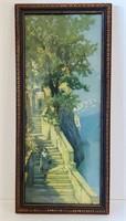 1920s Arts & Crafts Print Lake Como Arthur Diehl