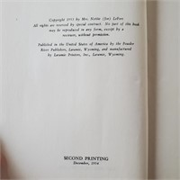 BOOK Wyoming Peace Officer Joe Lefors 1954