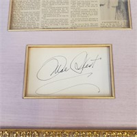 Framed Autograph of Famous Actress Mae West