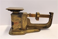 Antique Brass Hat Creek WY Postal & Candy Scales