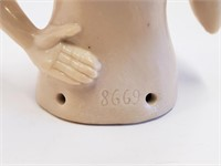 Antique German Porcelain Flapper Pincushion Doll