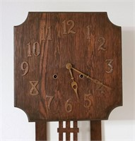 Early 20th Century Arts Crafts Mission Wall Clock