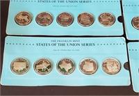 50 Franklin States Union 925 Silver Rounds 25 Oz