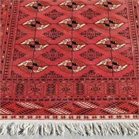 Antique Turkoman Turkmen Finely Hand Woven Rug