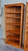 """72"""" Contemporary High Quality Oak 5 Shelf Bookcase"""