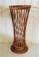 """26"""" Antique Oak Bent Wood Umbrella Stand"""