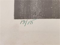 Rupert Conrad Etching THE YARD  #12/15 WY Artist