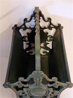 Antique Cast Iron EX LIBRIS Magazine Book Rack