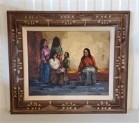 Oil Painting of Maya Women by Jan Ledbetter