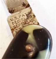 1916 Patent  Shapleigh Push Button Folding Knife