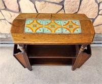 California Oak Tile Top Table Angelus Furniture