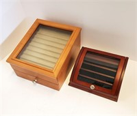 Two Contemporary Pen Display Cases