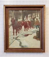 1905 Painting PL Hoyt Maple Sugar New England
