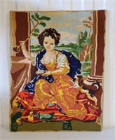 19th Century French Needlepoint on Board