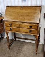 Vintage Drop Front Wooden Desk