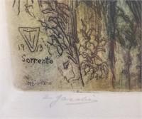1913 Etching Sorrento Italy Vaughan Trowbridge