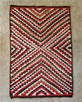 Antique Navajo Transitional Geometric Rug