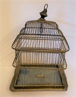 Two Vintage Brass Birdcages Hendryx Etc