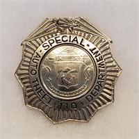 Vintage Colorado Badge Special Auto Theft Dept 110