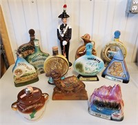 12 Jim Beam & Other Collectible Bottles
