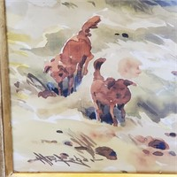 Painting Farm Workers & Oxen William Edwin Fager