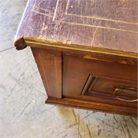 Primitive Wooden Cedar Lined Storage Chest