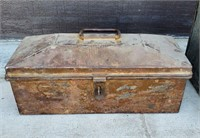 Large & Small Matching Primitive Metal Chests