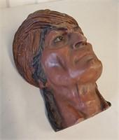 European Red Clay Sculpture of a Blackamoor