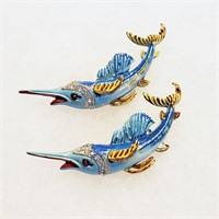 Vintage Animal Bird Fish Pins Napier Monet Dior