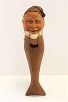 """Vintage 8"""" Hand Carved German Nutcracker Fisherman"""
