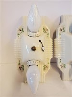 Pair of  Vintage Ceramic Lamp Ceiling Fixtures