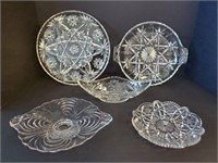 Godinger Crystal Cake Stand & Other Glass Dishes