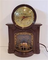 1950s Mastercrafters 272 Fireplace Motion Clock