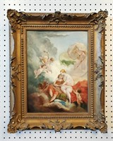 19th C Allegorical Painting Lovers by Emil Alder