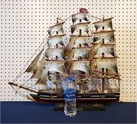 "1960 Advertising 27"" Ship Model Cutty Sark Whiskey"