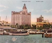 Vintage Miami Beach Yard Long Photo & Pillow Case