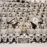 2 Yard Long Group Photos of WW2 Military Recruits