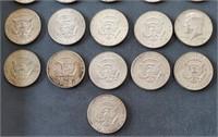 36 US 1964 Kennedy 90% Silver Half Dollars Coins