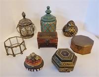 Assorted Decorative Trinket Boxes