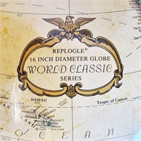 """Replogue 16"""" World Classic Floor Globe With Stand"""