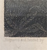 1874 Antique Stipple Engraving & Last Supper Print