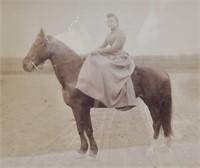 4 Antique Photographs Military Funeral Horseback
