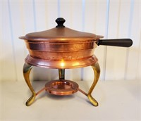 Vintage Copper Chafing Dishes and Utensils