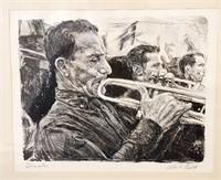 1938 Albert Gold Lithograph TRUMPETER Military Art