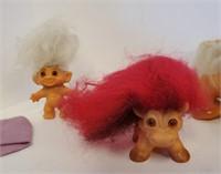 1960s Dam Troll Dolls RARE Lion & Troll With Tail