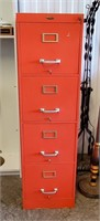 Red Cole Steel 4 Drawer File Cabinet