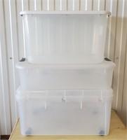 3 Sterilite 66 & 40 Qt Plastic Storage Tubs