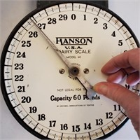 Antique Hanson Hanging Dairy Scale