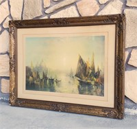 1920s Atmospheric Print of Venice Campbell Art Co